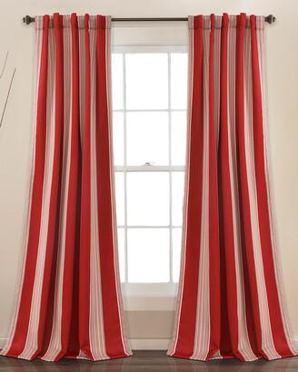 Triangle Home Fashion Julia Stripe Room Darkening Window Curtain
