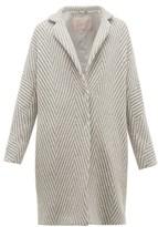 Herno Snowflake Metallic Wool-herringbone Jacket - Womens - Silver Multi