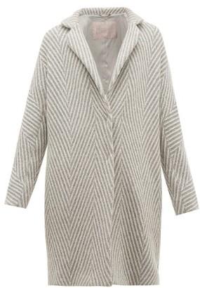 Herno Snowflake Metallic Wool Herringbone Jacket - Womens - Silver Multi