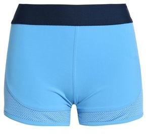 adidas by Stella McCartney Mesh-paneled Stretch Shorts
