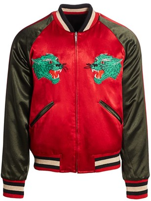 Gucci Reversible Acetate Bomber Jacket