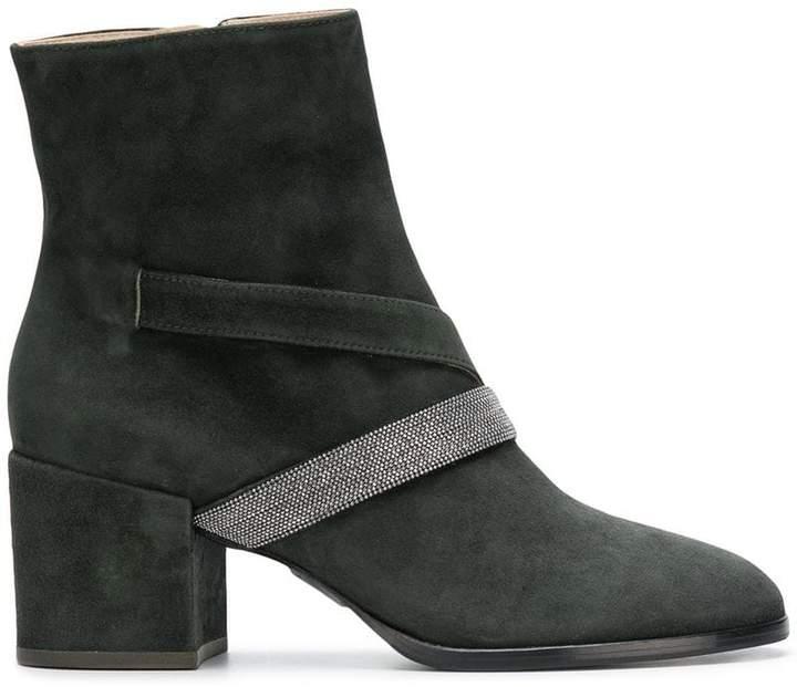 Fabiana Filippi bead embellished chunky heel boots
