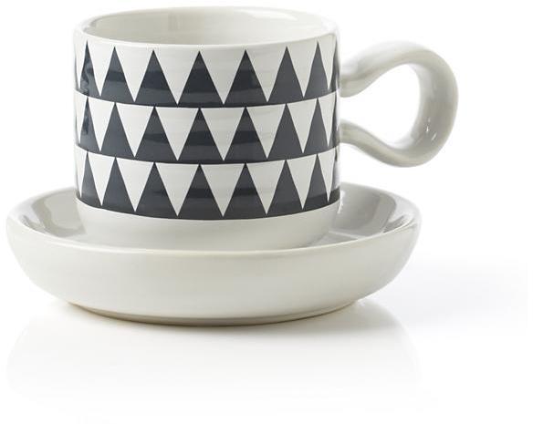 Crate & Barrel Elsa Espresso Cup with Saucer