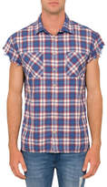 R & E RE: Sleeveless Check Shirt