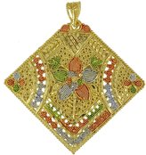 Banithani Ethnic Goldplated New Traditional Indian Designer Charm Pendant Women Jewelry