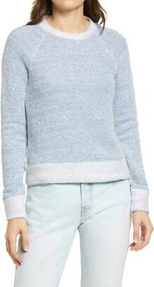 Faherty Whitewater Herringbone Jacquard Cotton & Modal Sweater