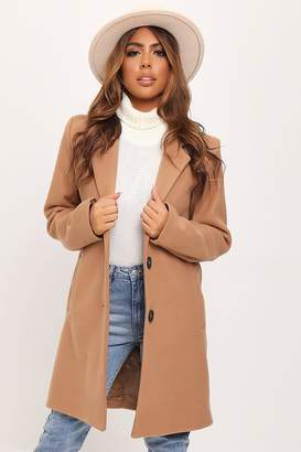 I SAW IT FIRST Tan Button Front Formal Coat
