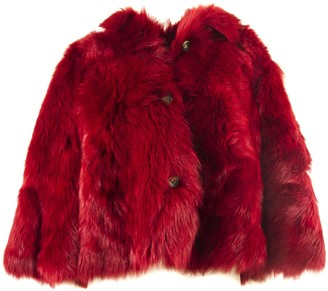 RED Valentino Red Reversible Sheepskin Jacket