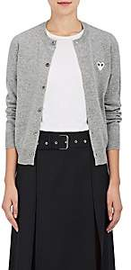 Comme des Garcons Women's Stockinette-Stitched Wool Cardigan - Light Gray