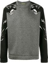 Valentino panther print sweatshirt - men - Viscose/Cotton/Polyurethane - M