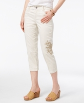 Style&Co. Style & Co Style & Co Petite Embroidered Cargo Capris, Created for Macy's