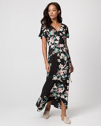 Le Château Floral Print Crepe de Chine Maxi Dress