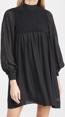 Ganni Smock Chiffon Dress