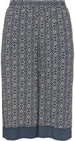 Studio Plus Size Printed woven fabric culottes