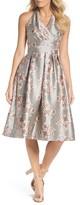 Chetta B Women's Metallic Floral Fit & Flare Dress
