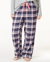 Jenni by Jennifer Moore Plus Size Plaid Flannel Pajama Pants, Only at Macy's