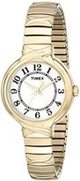 """Timex Women's T2N9789J """"Elevated Classics"""" Watch With Gold-Tone Expansion Band"""