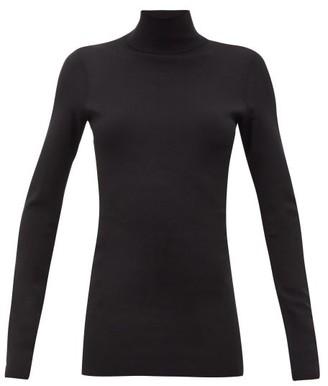 Bottega Veneta Roll-neck Jersey Sweater - Womens - Black