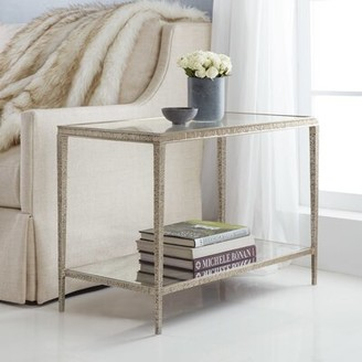 Modern History End Table Home Table Base Color: Antique Aluminum