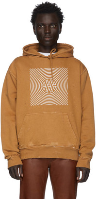 Vyner Articles Tan Distressed Trance Hoodie
