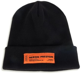 Heron Preston Ribbed Logo Beanie