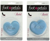 Foot Petals Mrs. and I Do Heart Tip Toes Bridal Cushion Kit Insoles Foot Care
