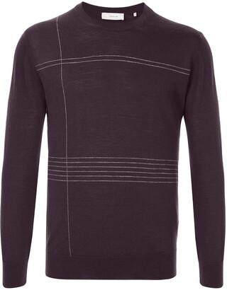 Cerruti Striped Crew-Neck Pullover