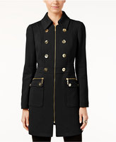 INC International Concepts Petite Double-Breasted Peacoat, Only at Macy's