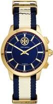 Torytrack Hybrid Smartwatch, Navy/Ivory/Gold-Tone, 38mm