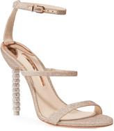 Sophia Webster Rosalind Glitter Sphere-Heel Sandals