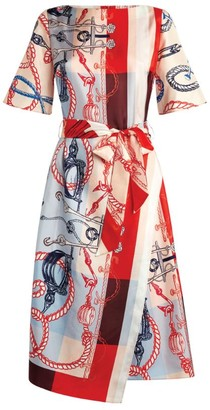 St. John Mariner Scarf Print Dress