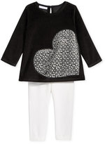 First Impressions Baby Girls' 2-Pc. Heart Tunic & Leggings Set, Only at Macy's