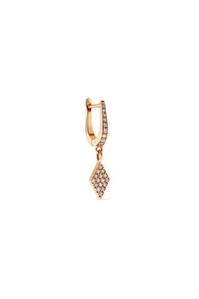 Diane Kordas 18-karat Rose Gold Diamond Earring