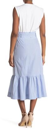 Veronica Beard Capri Ruffle Hem Midi Dress