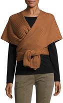 Tibi Women's Ribbed Wool Shawl