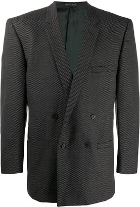 Versace Pre Owned 1980s Double-Breasted Blazer