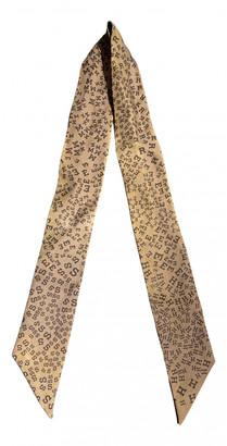 Hermes Twilly 86 Khaki Silk Scarves