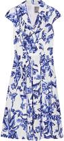 Lela Rose Jane floral-print cotton-poplin dress