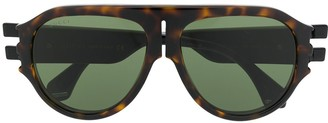 Gucci GG0665S aviator-frame sunglasses