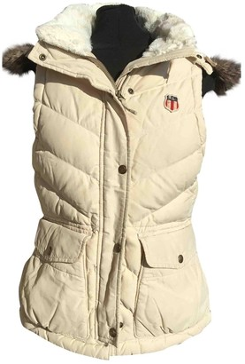 Polo Ralph Lauren Ecru Leather Jacket for Women