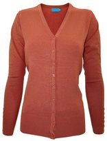 Time Story Ever77 Women's V Neck Regular Fit Long Sleeve Sweater Cardigan/USA/TJ1023/CI-,3XL