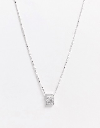 Pilgrim crystal silver plated Lia necklace in silver