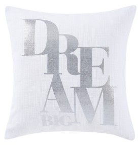 "Sean John Closeout! Dream Big 18"" Square Decorative Pillow Bedding"