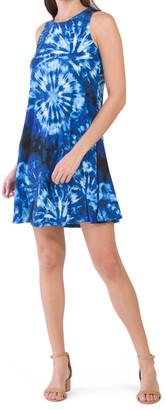 Gwen Tie Dye Print Swing Dress