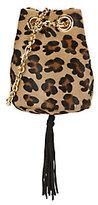 Delphine Delafon Leopard Pattern Calfhair Bucket Bag