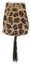 Delphine Delafon Leopard Pattern Haircalf Bucket Bag