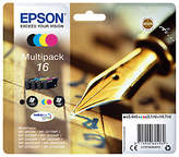 Epson Pen & Crossword T1626 Inkjet Printer Cartridge Multipack, Pack of 4