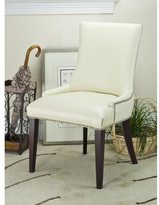 Safavieh En Vogue Dining Becca Cream Leather Side Chair