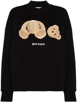 Palm Angels Appliqued Cotton Sweatshirt