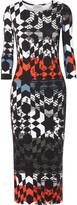 Preen by Thornton Bregazzi Printed stretch-jersey midi dress